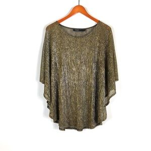 Eloquii black gold dolman short sleeve top size 14